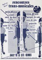 Affiche Trans Musicales 1979 © Pierre Fablet