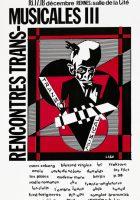 Affiche Trans Musicales 1981